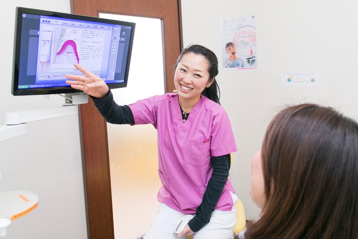 江東区東雲、豊洲の歯医者のキャナルコート歯科クリニック 十分なカウンセリングと治療説明を行い、不安なく治療を開始します